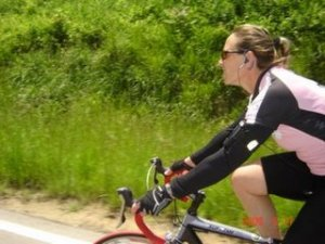 Judi training for an endurance event. Image from Miles and Madness.